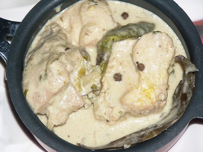 White Chicken Badami Korma