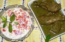 Green Chicken Rizzala Korma Feat