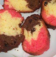 Choco Vanilla Strawberry Cake